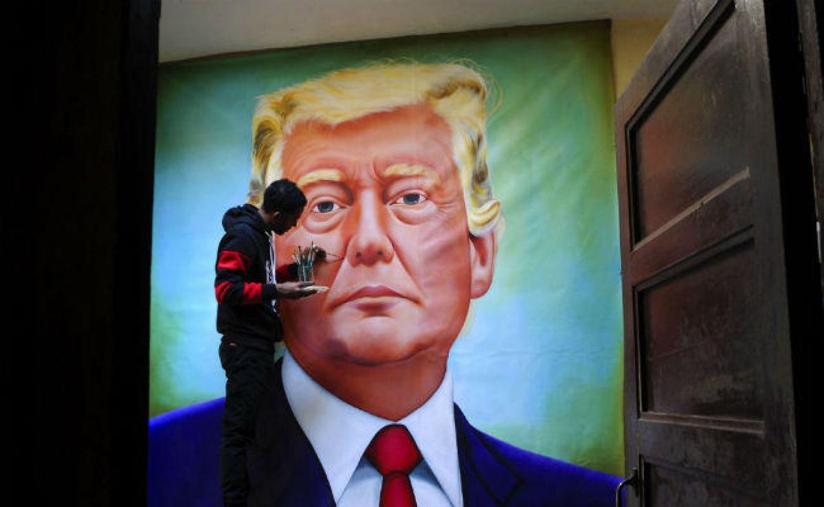''Namaste Trump'': ट्रंप को 'नमस्ते'' कहने के लिए तैयार है अहमदाबाद, तस्वीरों में देखें तैयारी