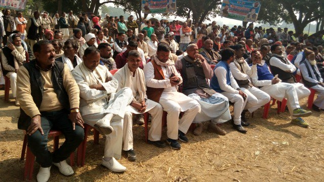 وزیر اعلیٰ نتیش کمار کے جلسہ میں موجود لوگ