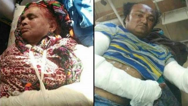 متاثرہ خاندان کے زخمی افراد