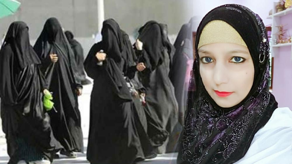 آل انڈیا مسلم پرسنل لاء بورڈ، بہار میں شعبۂ خواتین کی کو آرڈینیٹر ڈاکٹر مہ جبیں ناز (دائیں)