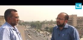 سینئر صحافی فاروق احمد (دائیں) قومی آواز کے پولیٹیکل ایڈیٹر سید خرم رضا (بائیں)