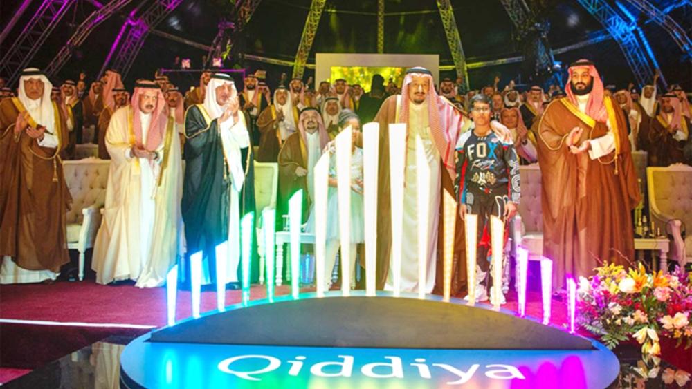 دنیا کی سب سے بڑی تفریح گاہ کا سنگ بنیاد رکھتے سعودی عرب کے  شاہ سلمان