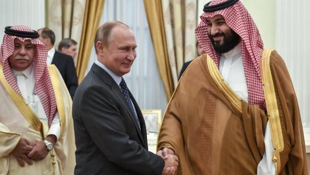 روسی صدر ولادمیر پوتن اور شہزادہ محمد بن سلمان
