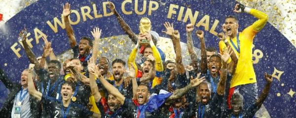 فیفا عالمی کپ کے ساتھ فرانس کی ٹیم