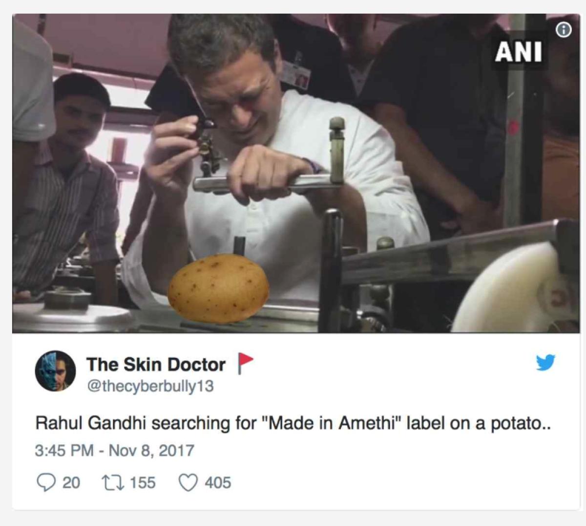 इन तस्वीरों को ट्वीट कर लोग पूछ रहे हैं कि क्या राहुल गांधी ने ऐसा कहा था