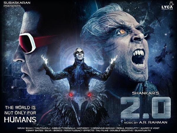 2.0 रिव्यू : रजनीकांत और अक्षय कुमार की फिल्म देखें दो मिनट में
