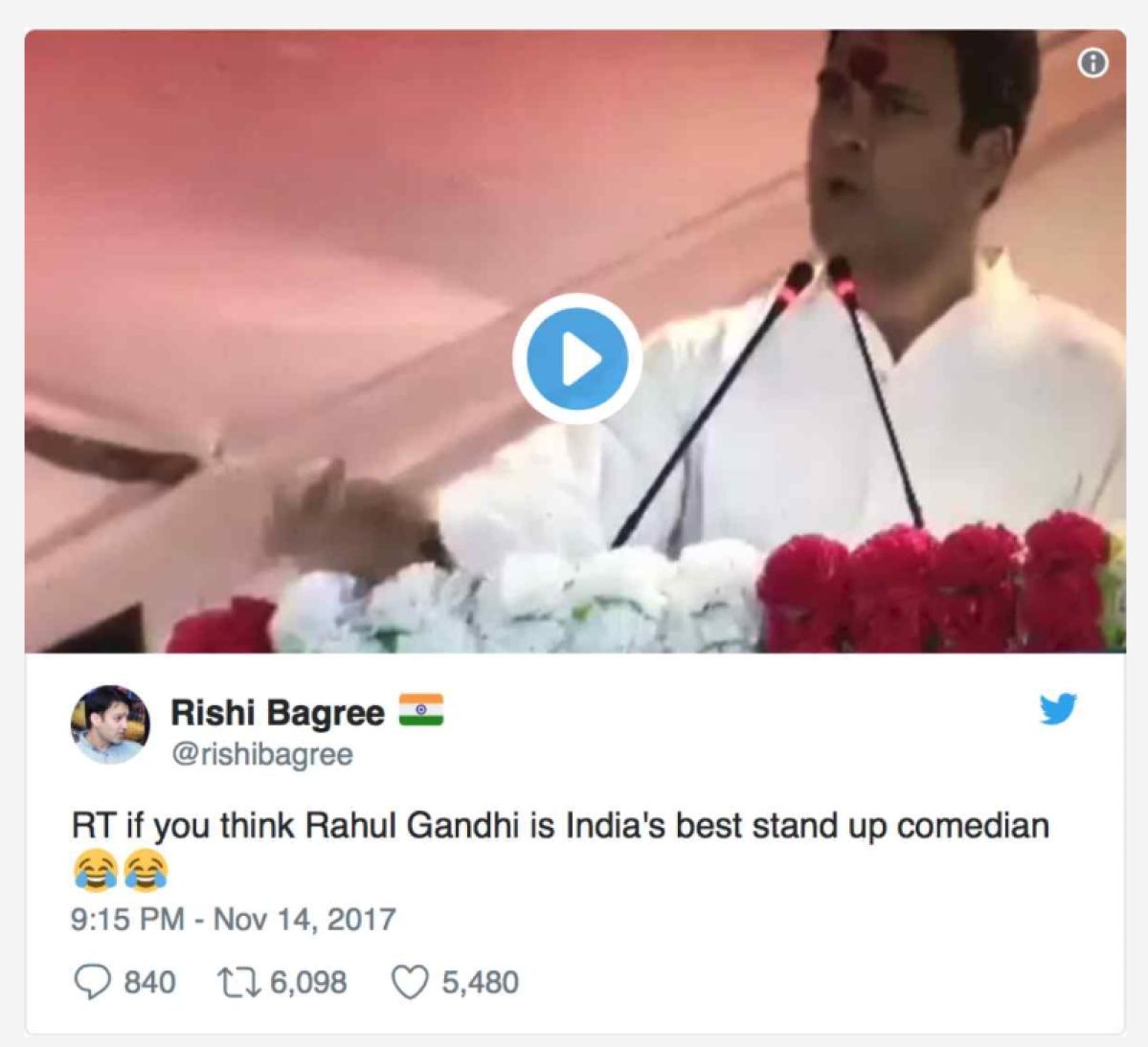 राहुल गांधी का वायरल वीडियो तकरीबन एक साल पुराना है.