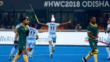 हॉकी वर्ल्ड कप में साउथ अफ्रीका के खिलाफ भारत की शानदार जीत