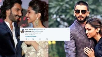 """क्या आप भी <a href=""""https://twitter.com/hashtag/DeepikaRanveer?src=hash"""">#DeepikaRanveer</a> की शादी की फोटो इंतजार कर रहे हैं?"""