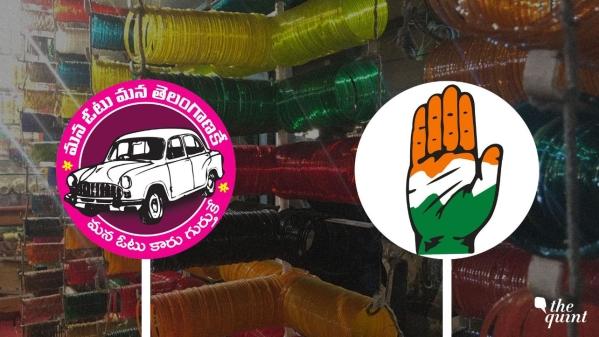 हैदराबाद के चूड़ी बाजार में क्विंट की चुनावी चर्चा