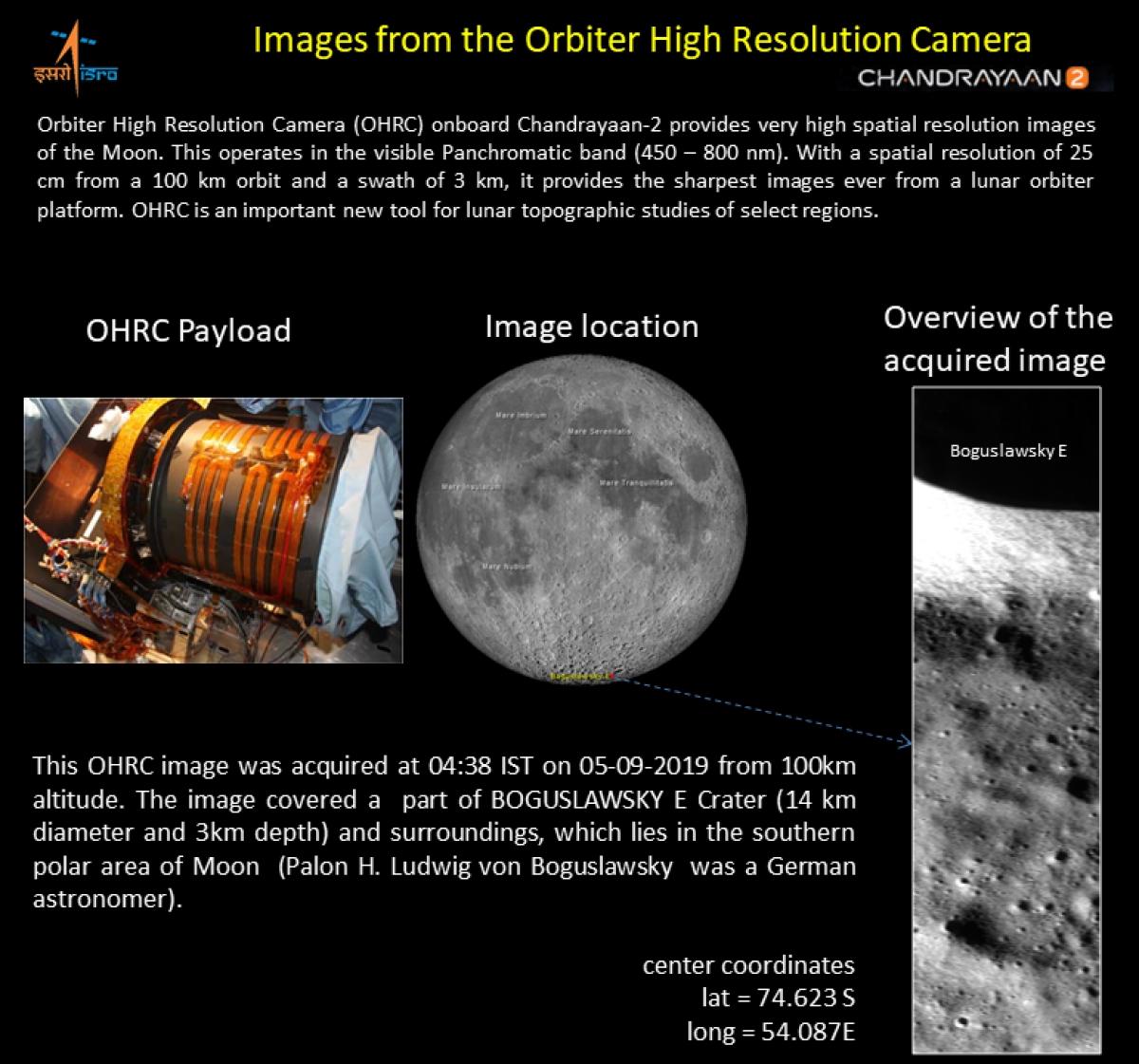 Image result for ISRO ने जारी की चांद की तस्वीर, चंद्रयान-2 के ऑर्बिटर ने भेजी
