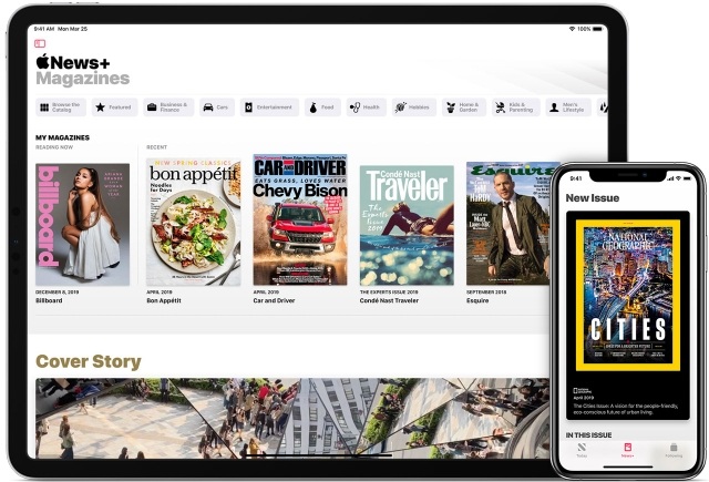 Major publications on Apple News+