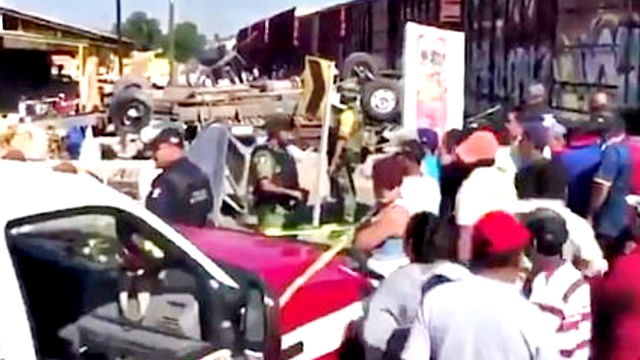 Mexico Train-Bus Accident