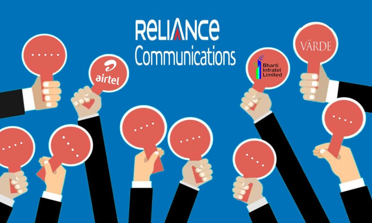 RCom के बोलीदाताओं में एयरटेल और इंफ्राटेल सहित कई कम्पनियां शामिल