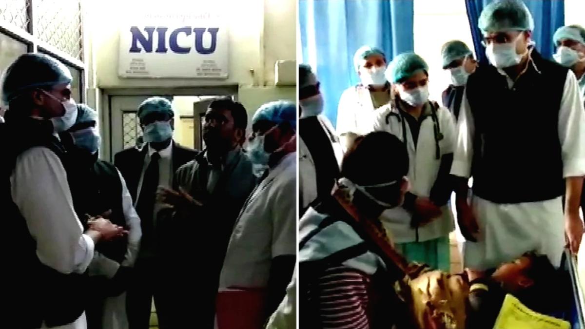 Sachin Pilot Visits Kota Hospital