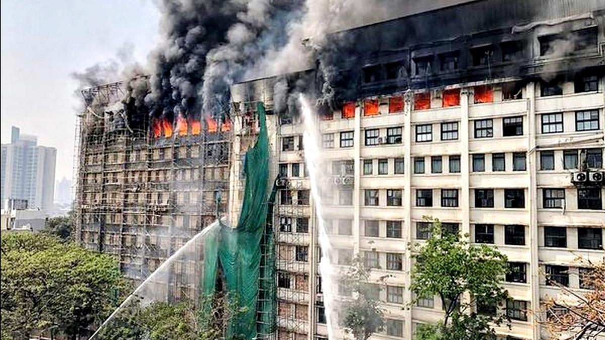 Fire in GST Bhavan Mumbai