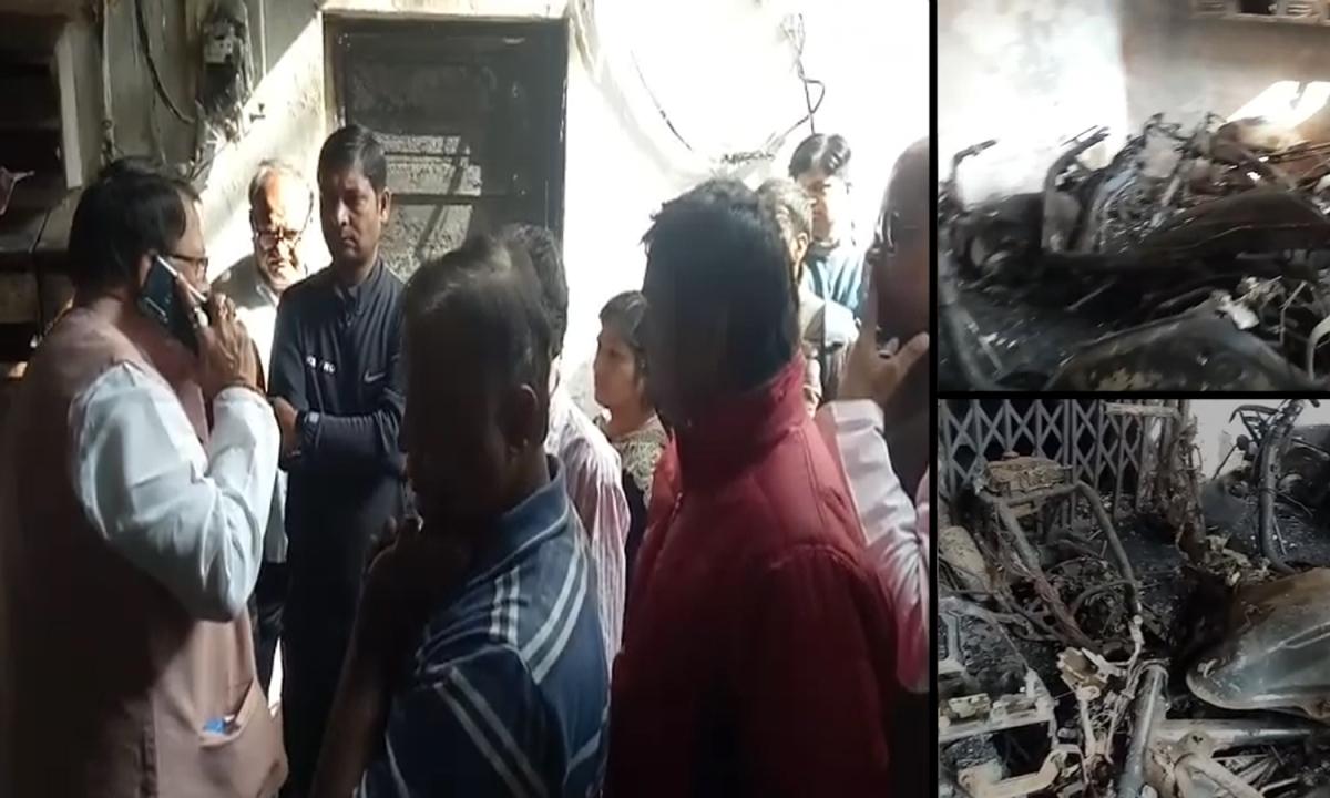 नए भोपाल में भयंकर आगजनी: मचा हड़कंप, मौके पर पहुंचे मंत्री शर्मा