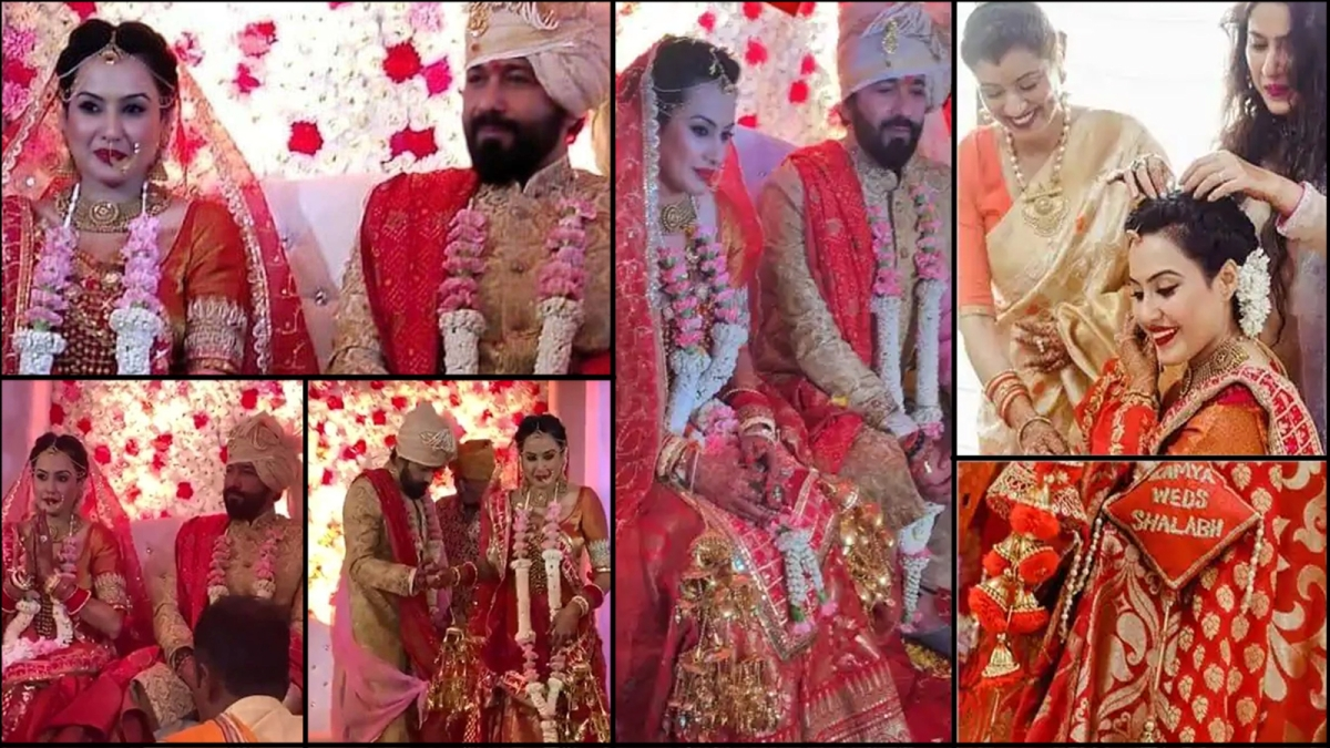 काम्या पंजाबी और शलभ डांग की शादी की तस्वीरें