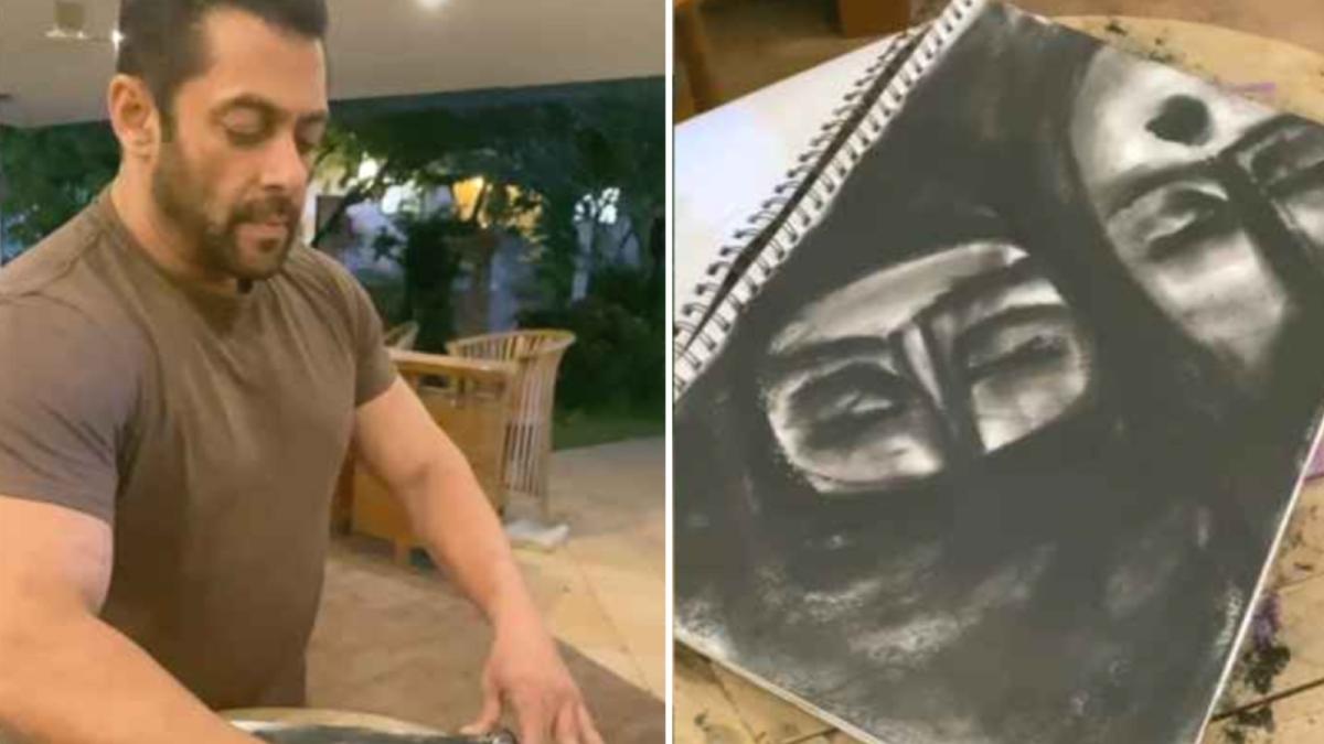 सलमान ने पेंटिंग के जरिए बताई इंडियन ड्रेसिंग स्टाइल