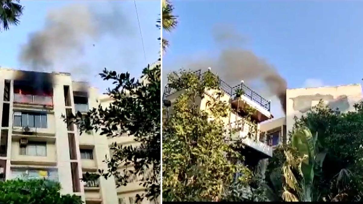 एक्टर शाहरुख के 'मन्नत' के पास फ्लैट में भीषण आग