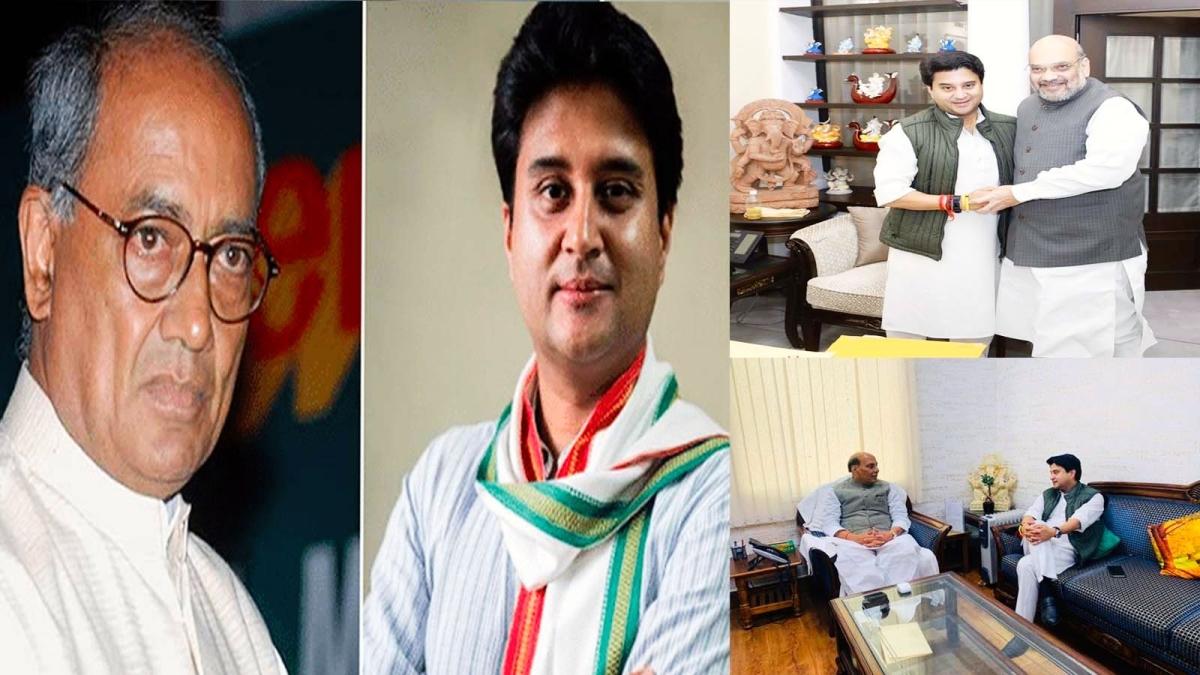कांग्रेस-BJP संग्राम: इधर दिग्गी-उधर सिंधिया, दिग्गजों से मुलाकात