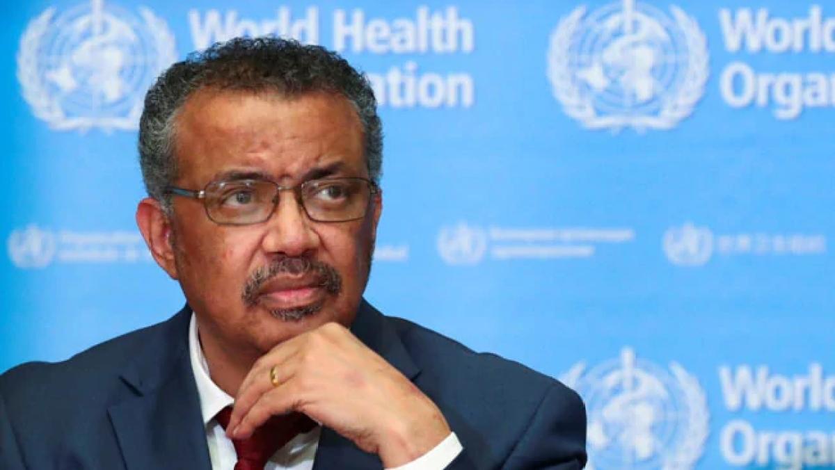 विश्व स्वास्थ्य संगठन (WHO) के प्रमुख टेडरोस अधानोम गेब्रियेसस