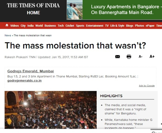 Contradictory story of TOI.