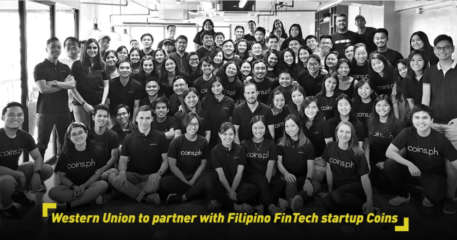Western Union to partner with Filipino FinTech startup Coins