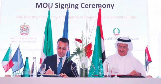 UAE and Italy sign two MoUs