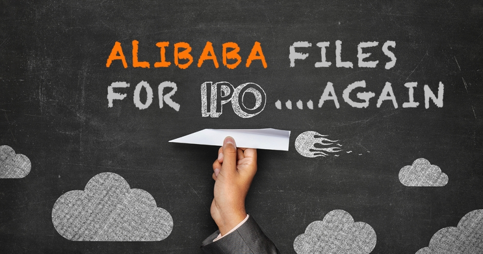 Alibaba Group files to go public – again