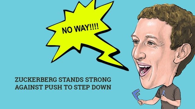Zuckerberg stands strong against push to step down