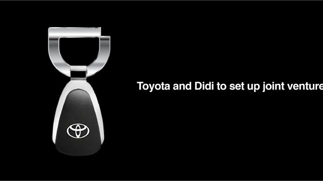 Toyota invests $600 million in Didi to set up a joint venture