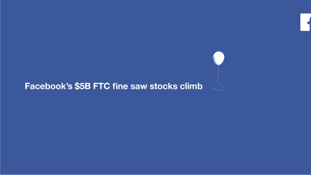 Facebook's $5B FTC fine saw stocks climb