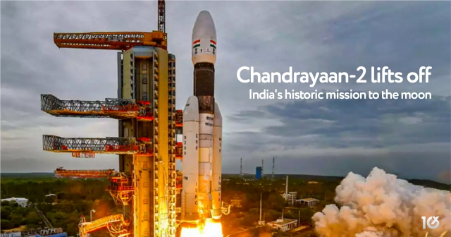 Chandrayaan-2 lifts off India's historic mission to the moon
