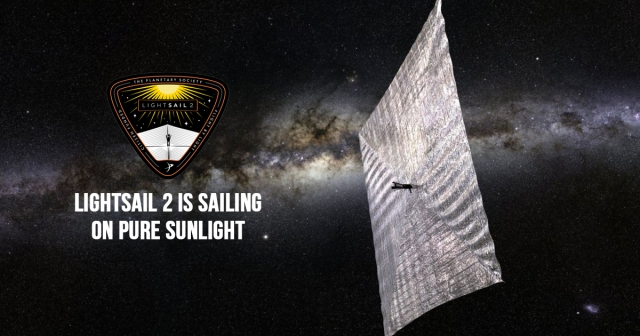 LightSail 2 is sailing on pure sunlight
