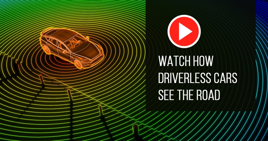 Watch how driverless cars see the road