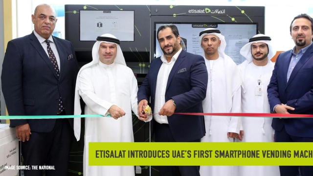 Etisalat introduced UAE's first smartphone vending machine