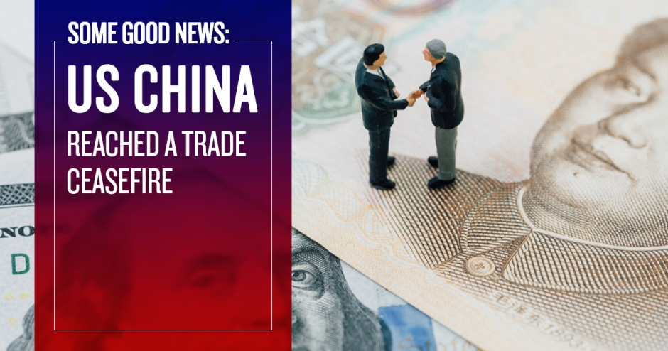 Some good news: US-China reached a trade ceasefire