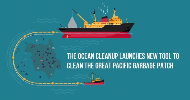 The Ocean Cleanup launches new tool to clean the Great Pacific Garbage Patch