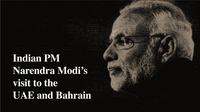 Indian PM Narendra Modi's visit to the UAE and Bahrain