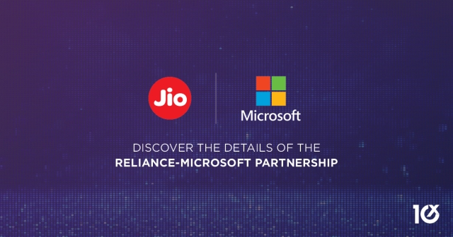 India's Reliance Jio partners with Microsoft to further expand its technology industry
