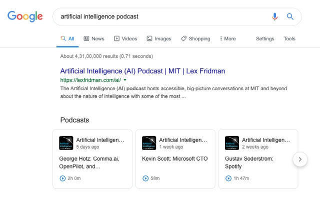 Why is Google's decision of allowing podcasts in its search results a big deal?