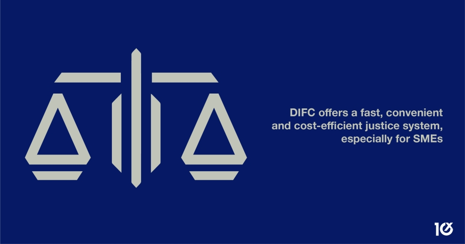 DIFC offers a fast, convenient and cost-efficient justice system, especially for SMEs