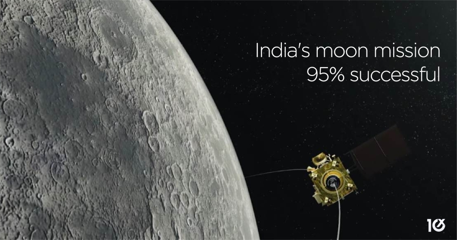 Here's why India's moon mission remains 95% successful