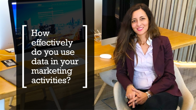 How effectively do you use data in your marketing activities?