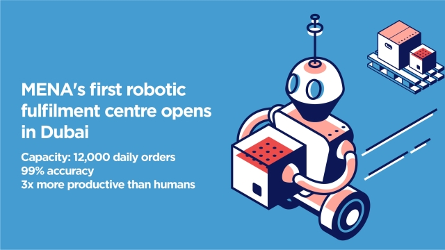 MENA's first robotic fulfilment centre launches in Dubai, aims to process 12,000 orders daily with 99% accuracy