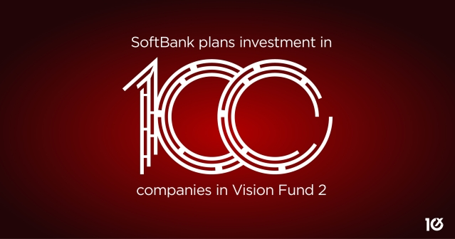 SoftBank plans to invest in 100 new companies with Vision Fund 2