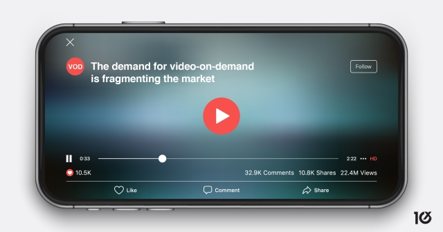 The demand for video-on-demand is fragmenting the market