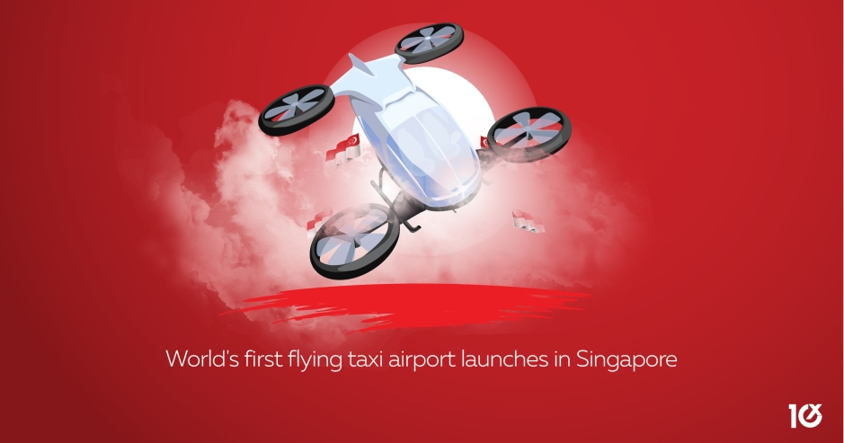 World's first flying taxi airport launches in Singapore