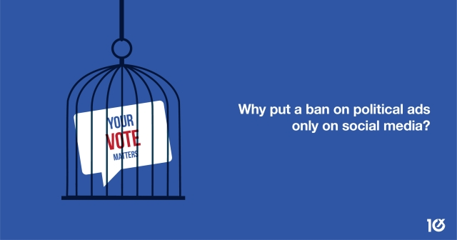 Why put a ban on political ads only on social media?